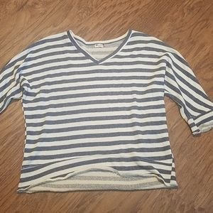 Kut from the kloth jersey knit top striped small